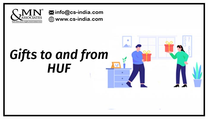 Gifts to and from HUF